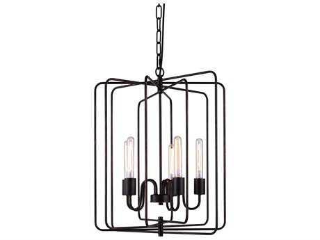 Elegant Lighting Lewis Dark Bronze Five-Lights 20'' Wide Chandelier