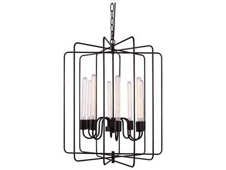 Elegant Lighting Lewis Dark Bronze Eight-Lights 25'' Wide Chandelier