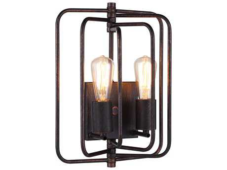 Elegant Lighting Lewis Dark Bronze Two-Lights Wall Sconce