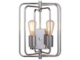 Elegant Lighting Lewis Polished Nickel Two-Lights Wall Sconce