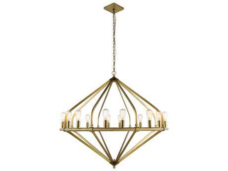 Elegant Lighting Illumina Burnished Brass 16-Lights 52'' Wide Grand Chandelier