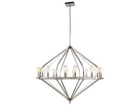 Elegant Lighting Illumina Polished Nickel 16-Lights 52'' Wide Grand Chandelier