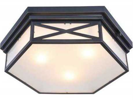 Elegant Lighting Penta Bronze Three-Light 18'' Wide Flush Mount Light