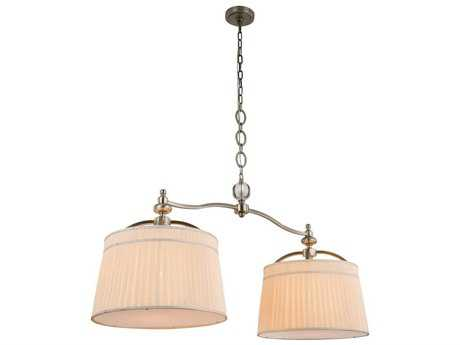Elegant Lighting Cara Vintage Nickel Two-Light 48'' Long Island Light