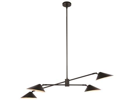 Elegant Lighting Berkley Bronze Four-Light 62'' Wide Pendant Light