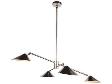 Elegant Lighting Berkley Polished Nickel Four-Light 62'' Wide Pendant Light