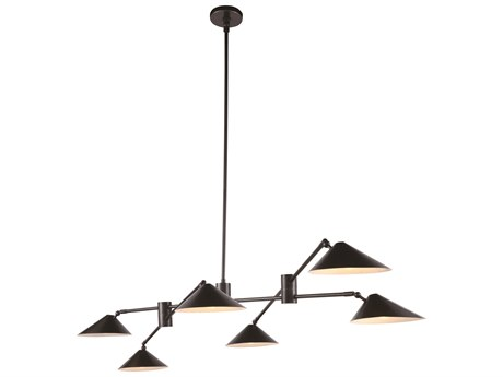 Elegant Lighting Berkley Bronze Six-Light 71'' Wide Island Light