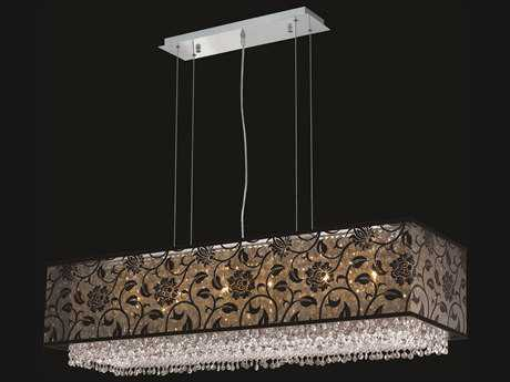 Elegant Lighting Moda Chrome Six-Lights 41'' Long Island Light