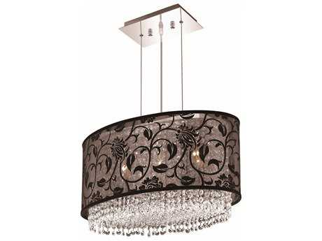 Elegant Lighting Moda Chrome Three-Lights 12.5'' Wide Island Light