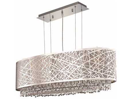 Elegant Lighting Moda Chrome Six-Lights 35'' Long Island Light