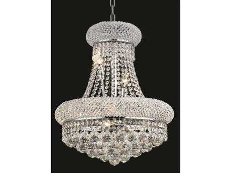Elegant Lighting Primo Royal Cut Chrome & Crystal Eight-Light 16'' Wide Mini Chandelier