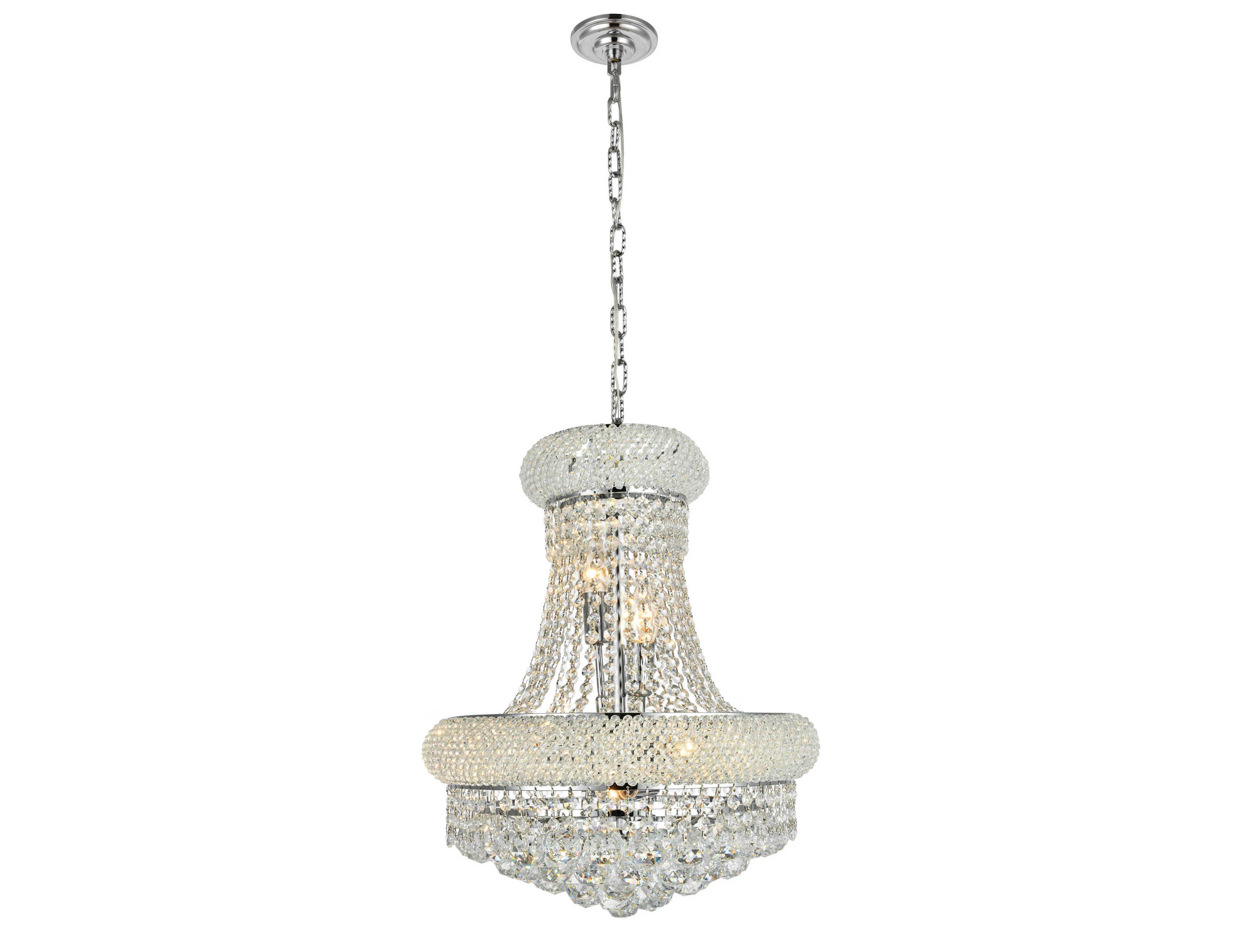 Elegant Lighting Primo Royal Cut Chrome Amp Crystal Eight