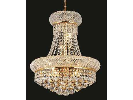 Elegant Lighting Primo Royal Cut Gold & Crystal Eight-Light 16'' Wide Mini Chandelier