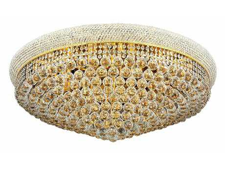 Elegant Lighting Primo Royal Cut Gold & Crystal 20-Light 36'' Wide Flush Mount Light