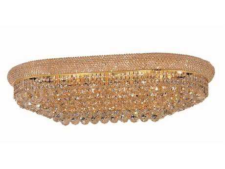 Elegant Lighting Primo Royal Cut Gold & Crystal 18-Light 20'' Wide Flush Mount Light