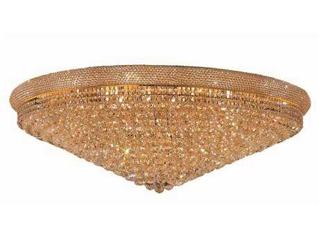 Elegant Lighting Primo Royal Cut Gold & Crystal 33-Light 48'' Wide Flush Mount Light