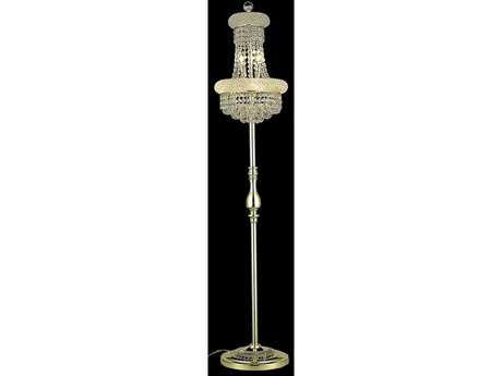Elegant Lighting Primo Royal Cut Gold & Crystal Six-Light Floor Lamp
