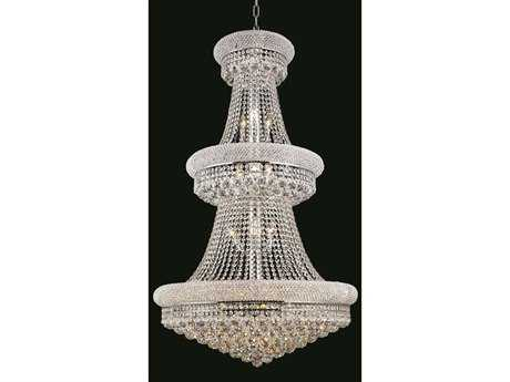 Elegant Lighting Primo Royal Cut Chrome & Crystal 32-Light 30'' Wide Grand Chandelier