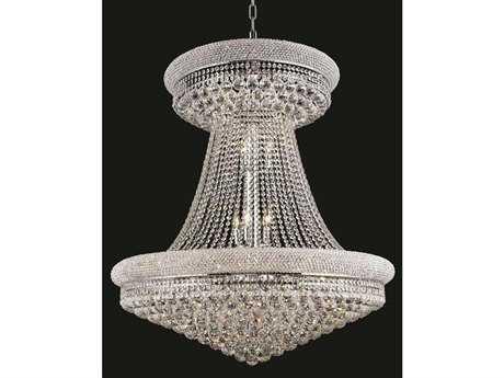 Elegant Lighting Primo Royal Cut Chrome & Crystal 28-Light 36'' Wide Grand Chandelier