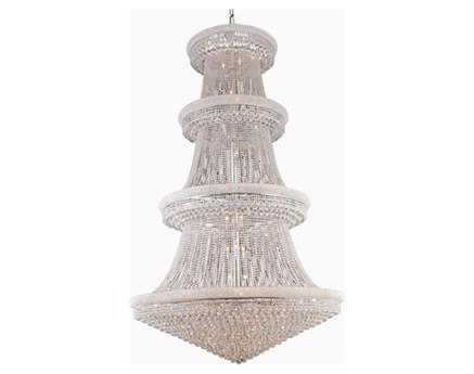 Elegant Lighting Primo Royal Cut Chrome & Crystal 56-Light 62'' Wide Grand Chandelier