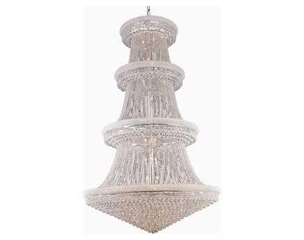 Elegant Lighting Primo Royal Cut Chrome & Crystal 56-Light 62'' Wide Grand Chandelier