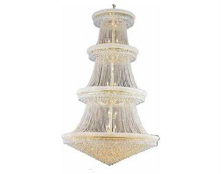 Elegant Lighting Primo Royal Cut Gold & Crystal 56-Light 62'' Wide Grand Chandelier