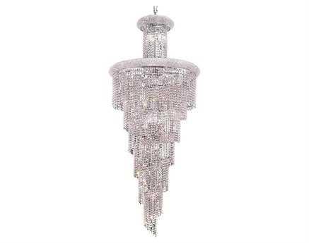Elegant Lighting Spiral Royal Cut Chrome & Crystal 28-Light 30'' Wide Grand Chandelier