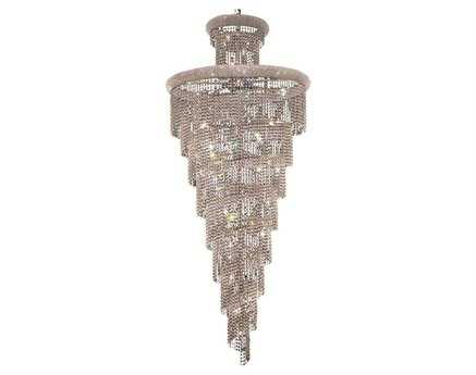Elegant Lighting Spiral Royal Cut Chrome & Crystal 32-Light 36'' Wide Grand Chandelier