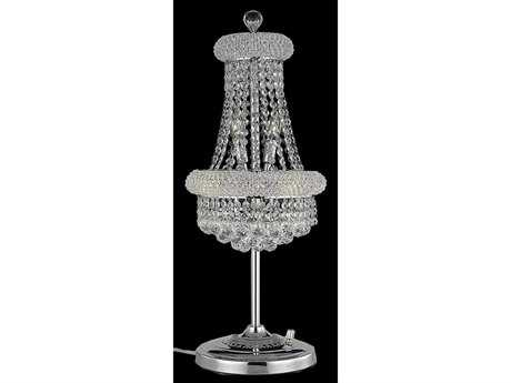 Elegant Lighting Primo Royal Cut Chrome & Crystal Six-Light Table Lamp