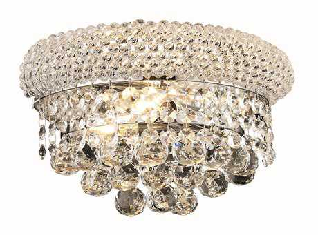 Elegant Lighting Primo Royal Cut Chrome & Crystal Two-Light Wall Sconce