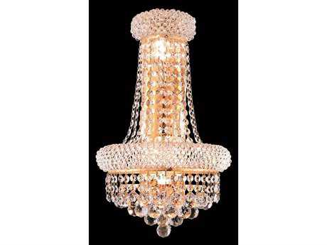 Elegant Lighting Primo Royal Cut Gold & Crystal Four-Light Wall Sconce