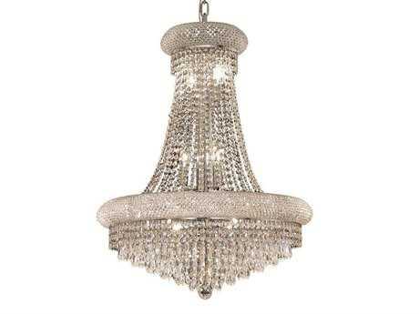Elegant Lighting Primo Royal Cut Chrome & Crystal 14-Light 24'' Wide Chandelier