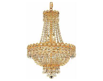 Elegant Lighting Century Royal Cut Gold & Crystal Eight-Light 16'' Wide Mini Chandelier