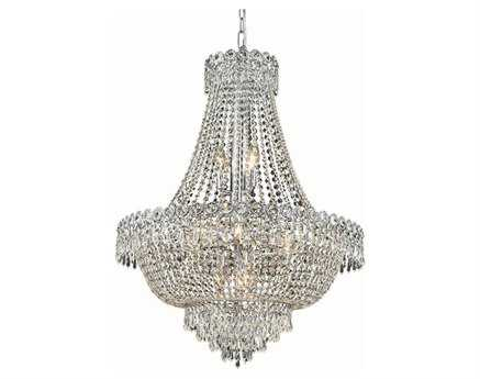 Elegant Lighting Century Royal Cut Chrome & Crystal 12-Light 24'' Wide Chandelier