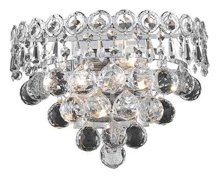 Elegant Lighting Century Royal Cut Chrome & Crystal Two-Light Wall Sconce