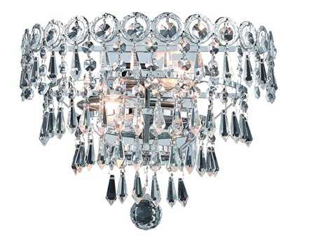 Elegant Lighting Century Royal Cut Chrome & Crystal Two-Light Wall Sconce