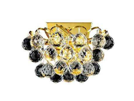 Elegant Lighting Godiva Royal Cut Gold & Crystal Two-Light Wall Sconce