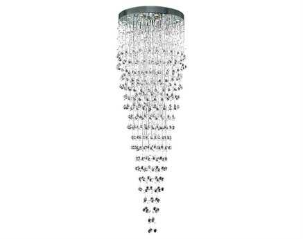 Elegant Lighting Galaxy Royal Cut Chrome & Crystal 16-Light 32'' Wide Pendant
