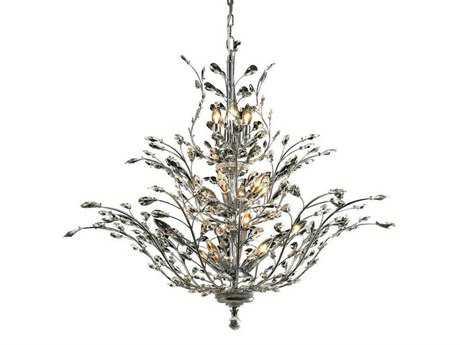 Elegant Lighting Orchid Royal Cut Chrome & Crystal 18-Light 41'' Wide Chandelier