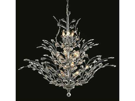 Elegant Lighting Orchid Royal Cut Chrome & Crystal 25-Light 41'' Wide Grand Chandelier