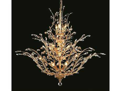 Elegant Lighting Orchid Royal Cut Gold & Crystal 25-Light 41'' Wide Grand Chandelier