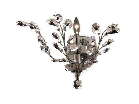 Elegant Lighting Orchid Royal Cut Chrome & Crystal Wall Sconce
