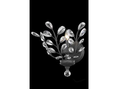Elegant Lighting Orchid Royal Cut Dark Bronze & Crystal Wall Sconce