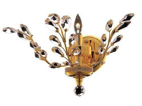 Elegant Lighting Orchid Royal Cut Gold & Crystal Wall Sconce