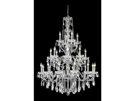 Elegant Lighting St. Francis Royal Cut Chrome & Crystal 24-Light 36'' Wide Grand Chandelier