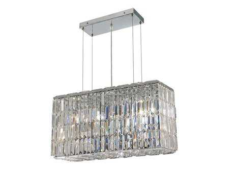 Elegant Lighting Maxim Royal Cut Chrome & Crystal Eight-Light 26'' Long Island Light