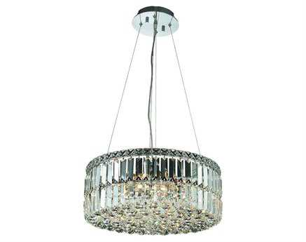 Elegant Lighting Maxim Royal Cut Chrome & Crystal 12-Light 20'' Wide Pendant