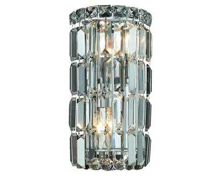 Elegant Lighting Maxim Royal Cut Chrome & Crystal Two-Light Wall Sconce