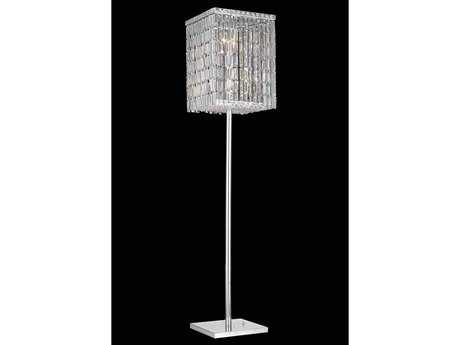 Elegant Lighting Maxim Royal Cut Chrome & Crystal Four-Light Floor Lamp