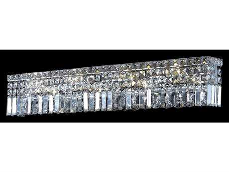 Elegant Lighting Maxim Royal Cut Chrome & Crystal Seven-Light Vanity Light